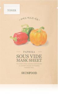 Skinfood Sous Vide Paprika hidratáló gézmaszk száraz bőrre