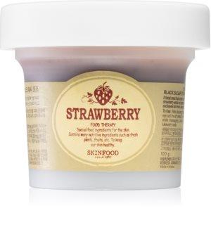 Skinfood Strawberry Black Sugar mélytisztító habzó maszk bőrradirral