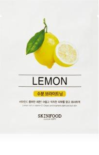 Skinfood Beauty In A Food Lemon szövet arcmaszk az arcbőr élénkítésére és vitalitásáért