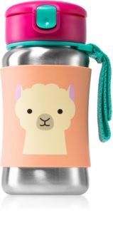 Skip Hop Zoo Llama Wasserflasche mit Strohhalm 12m+