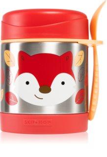 Skip Hop Zoo Fox Thermosflasche mit Löffelchen 12m+