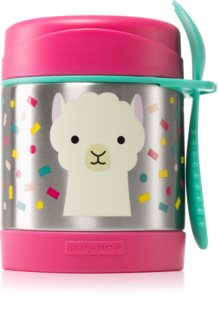 Skip Hop Zoo Llama Thermosflasche mit Löffelchen 12m+