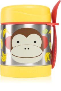 Skip Hop Zoo Monkey Thermosflasche mit Löffelchen 12m+