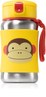 Skip Hop Zoo Monkey Wasserflasche mit Strohhalm 12m+