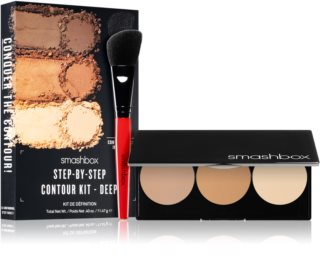 Smashbox Step By Step Contour Kit Púderes highlight és kontúr paletta ecsettel