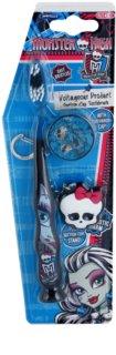 SmileGuard Monster High zubná kefka pre deti s cestovnou krytkou a kľúčenkou soft