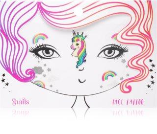 Snails Face Tattoo tetování na obličej Unicorn