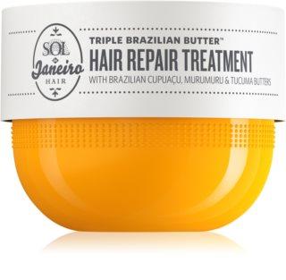 Sol de Janeiro Triple Brazilian Butter™ Hair Repair Treatment intenzivně hydratační a vyživující maska pro suché a poškozené vlasy