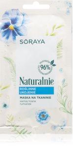 Soraya Naturally платнена маска за успокояване на кожата