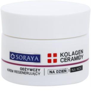 Soraya Collagen & Ceramides θρεπτική αναγεννητική κρέμα με βούτυρο καριτέ