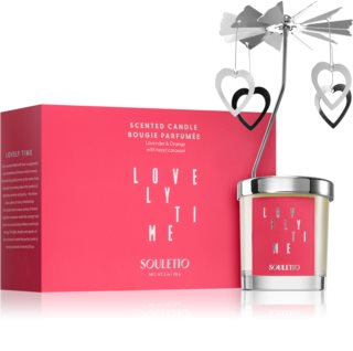 Souletto Lovely Time Orange & Lavender vela perfumada com carrossel