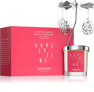 Souletto Lovely Time Green Tea & Lemon vela perfumada com carrossel