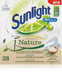 Sunlight All in 1 Powered by Nature tablettes pour lave-vaisselle