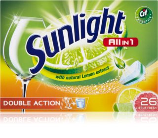 Sunlight All in 1 Double Action pastillas para el lavavajillas