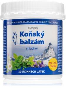 Swiss Koňský balzám chladivý chladivý bylinný krém pro úlevu namožených svalů a kloubů