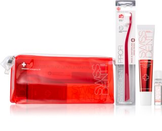 Swissdent Emergency Kit RED Dental Care Set (for Gentle Teeth Whitening and Enamel Protection)