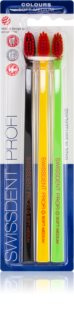 Swissdent Profi Colours Toothbrushes, 3 pcs Soft - Medium