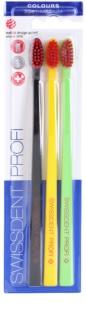 Swissdent Colours Trio spazzolini da denti 3 pz soft - medium
