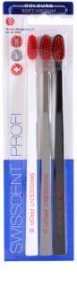 Swissdent Colours Trio Toothbrushes, 3 pcs Soft - Medium