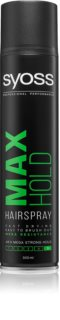 Syoss Max Hold laque cheveux fixation extra forte