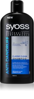 Syoss Anti-Dandruff Classic Clean champô refrescante anti-caspa