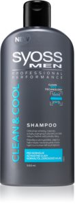 Syoss Men Clean & Cool champú para el cabello normal hasta graso