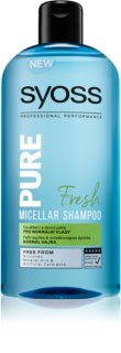Syoss Pure Fresh champô micelar purificante para cabelo normal
