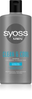 Syoss Men Clean & Cool Shampoo Fra normal til fedtet hår