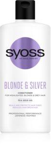 Syoss Blonde & Silver après-shampoing pour cheveux blonds et gris
