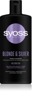 Syoss Blonde & Silver Βιολέ σαμπουάν για ξανθά και γκρίζα μαλλιά