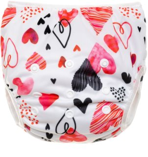 T-Tomi Diaper Swimwear Hearts plenky do vody 5-12 kg