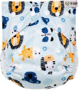 T-Tomi Diaper Covers AIO Animals plenkové kalhotky dárková sada 4-15 kg