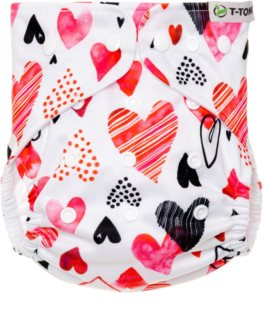T-Tomi Diaper Covers AIO Hearts plenkové kalhotky dárková sada 4-15 kg