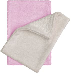 T-Tomi Bamboo Washcloth Natur + Pink mycí žínka 14x20 cm