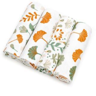T-Tomi Cloth Diapers Ginkgo Leafs Stoffwindeln 76x76 cm