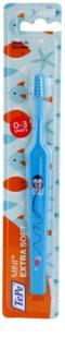 TePe Mini Illustration Tandborste med litet spetsigt huvud för barn Extra mjuk