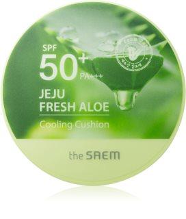 The Saem Jeju Fresh Aloe Cooling Cushion  dugotrajni puder u spužvici SPF 50+ s umirujućim djelovanjem