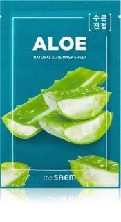 The Saem Natural Mask Sheet Aloe plátýnková maska s hydratačním a zklidňujícím účinkem