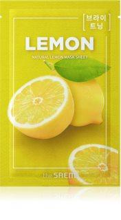 The Saem Natural Mask Sheet Lemon Zellschichtmaske mit aufhellender und feuchtigkeitsspendender Wirkung