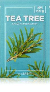 The Saem Natural Mask Sheet Tea Tree plátýnková maska s čisticím a osvěžujícím účinkem