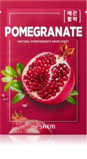 The Saem Natural Mask Sheet Pomegranate Intense Tightening and Brightening Sheet Mask
