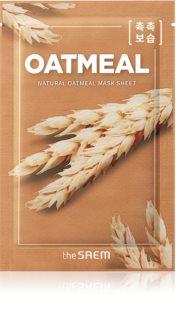 The Saem Natural Mask Sheet Oatmeal masque tissu hydratant et revitalisant