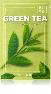 The Saem Natural Mask Sheet Green Tea plátýnková maska s hydratačním a zklidňujícím účinkem