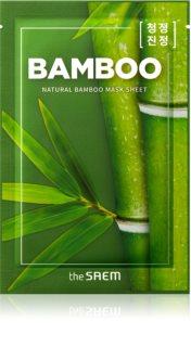 The Saem Natural Mask Sheet Bamboo plátýnková maska se zpevňujícím účinkem