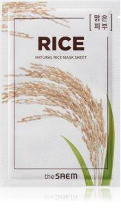 The Saem Natural Mask Sheet Rice plátýnková maska s hydratačním a vyhlazujícím účinkem