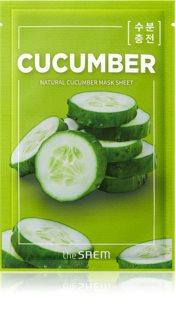 The Saem Natural Mask Sheet Cucumber Zellschichtmaske mit feuchtigkeitsspendender und revitalisierender Wirkung