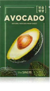The Saem Natural Mask Sheet Avocado plátýnková maska s vysoce hydratačním a vyživujícím účinkem