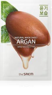 The Saem Natural Mask Sheet Argan rozjasňující plátýnková maska s hydratačním účinkem