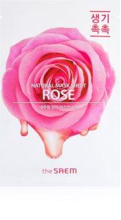 The Saem Natural Mask Sheet Rose hidratáló és revitalizáló arcmaszk