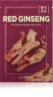 The Saem Natural Mask Sheet Red Ginseng plátýnková maska pro kompletní péči